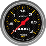ODG Manômetro Carbon Boost 3 BAR 66,7 mm
