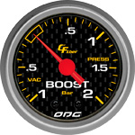 ODG Manômetro Carbon Boost -1 a 2 BAR 52 mm