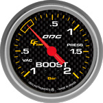 ODG Manômetro Carbon Boost -1 a 2 BAR 66,7 mm