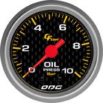 ODG Manômetro Carbon Oil 10 BAR 52 mm