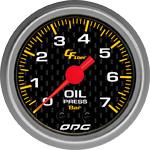 ODG Manômetro Carbon Oil 7 BAR 52 mm