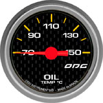 ODG Indicador Carbon Oil Temp 52 mm