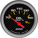 ODG Indicador Carbon Oil Temp 66,7 mm