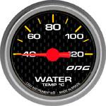 ODG Indicador Carbon Water Temp 52 mm