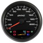 ODG Velocímetro Dakar Full Color 220Km/h 100 mm Hod. Duplo e indicadores
