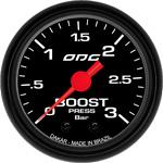 ODG Manômetro Dakar Boost 3 BAR 52 mm