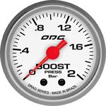 ODG Manômetro Drag Boost 2 BAR 52 mm