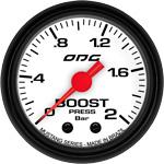 ODG Manômetro Mustang Boost 2 BAR 52 mm