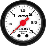 ODG Manômetro Mustang Boost 3 BAR 52 mm