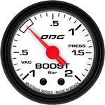 ODG Manômetro Mustang Boost -1 a 2 BAR 52 mm
