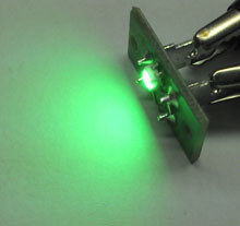 Circuito com LED para iluminação, cor Verde
