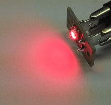 Circuito com LED para iluminação, cor Vermelho